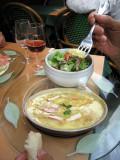 Tartiflette and salad