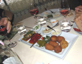 Greek appetizers at Mavromatis restaurant