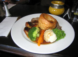 Roast lamb and Yorkshire pudding