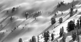 steep shadowy slope