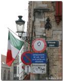 Spanish street taken over by Italians.