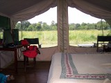 Bed/view from tent-2672