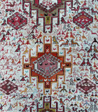 Close-up of an Azeri carpet