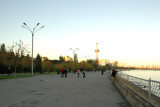 Baku boardwalk along the Caspian Sea
