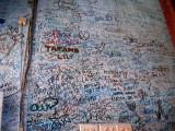 Grafitti on the bar wall were Hemmingway drank