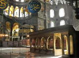 The müezzin mahfili, used by readers of the Koran during services  This domed basilica is overwhelming at first sight, and afterward  :-)