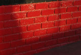 fake-brick wall