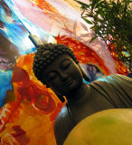 No flash - focus on buddha who really wants that fruit