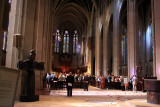 Interior of Grace Cathedral during interfaith event