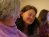Dec 7 class - Mary Ann and Tanya  -1/2 sec blur