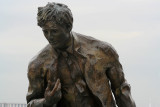 Jack London sculpture, closer
