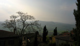 At the top of Montepulciano, looking down