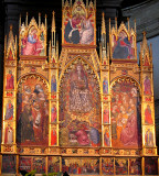Assumption of the Virgin and Saints triptych panels up closer