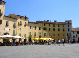 Piazza Anfiteatro, built on the ruins of an amphitheatre