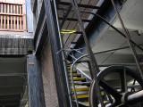 Stairway next to elevator