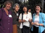 Ellen, Carole, Rita, Carolyn enjoying the food!
