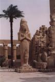 Beeld van Ramses II in de Karnak tempel in Luxor / Statue of Ramses II at the Karnak temple in Luxor.