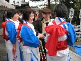 Locals in festive dress