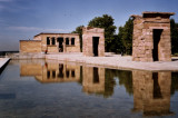 4th century BC egyptian Templo de Debod, sent bloc by bloc to Spain in 1970