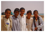 Young lads in Downtown El Saloum