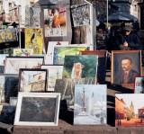 Artist sells his wares