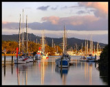 Whangarei Basin at sunset
