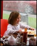 Hannah at the table