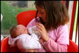 Molly feeding Charli