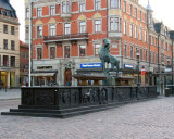 Folke Filbyter Statue in the Stora Torget