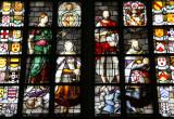 Stained glass windows at St.Jans Church - Gebrandschilderde ramen van de St.Jans kerk