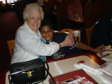 Out to LaRosa's as usual! Great Grandma Blackwell & Tony