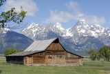 The Tetons with One of the Mormon Row Barns smallfile _DSC0179