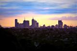 Melbourne City Sunset