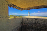 Lighthouse through the bunker