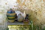 Beer bottle & stoneware
