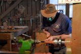 Woodturner and his lathe ~