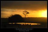 Sundown over the dam