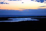 S-curve lake sunset ~