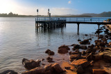 Jetty and rocks