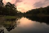 Summer dusk on Lake Tyers