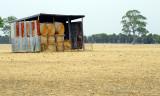 hay bales undercover