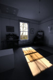 sunlight in a dark room