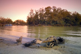 Sundown on the Murray River