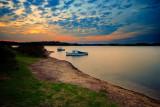 Warm autumn dusk on the lake ~