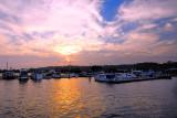 Sunset on the marina