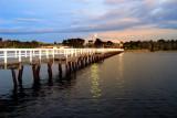 Lake crossing at dusk