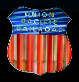 Union Pacific Railroad Sign night detail
