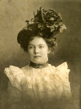 Lady with Large Floral Hat