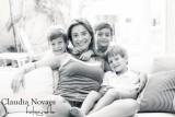 Fabianna e filhos