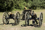 2 cannon and ammo caisson
